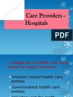 Non-Profit Accounting on Health Care Providers