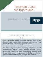 Struktur Morfologi Bahasa Indonesia