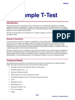 Two Sample T Test