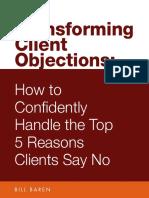 Bill Baren Transforming Client Objections
