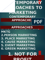 Topic 5. Contemporary Approaches to Marketing