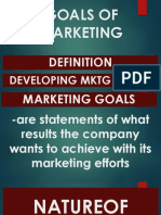 Topic 4. Goals of Marketing