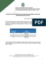 Resultado Da Interposição de Recursos - Análise de Documentação e Currículo - EDITAL 2018.1