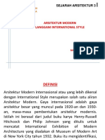 Sejarah Arsitektur 3 International Style