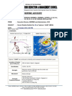 NDRRMC Severe Weather Bulletin No. 06 - Oct 17, 2010 6PM