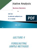 QA Lecture4 Forecasting