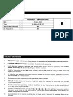 Thermodynamics Question Paper