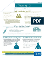 Hiv Testing 101 Info Sheet