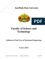 BE Mechanical 2015 Course