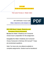 ECO 365 Week 3 Apply Elasticity and Consumer Choice Homework