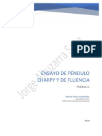 Ensayo Péndulo Charpy