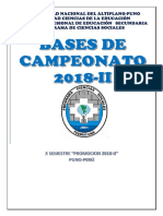 Bases de Campeonato 2018