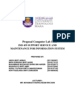 Assignment IMS455 UITM  - Computer Lab Network Proposal