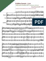 Purcell Z 794 Sonata No. 5 in a Va Part Russ D - Full Score