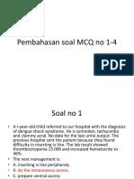 Pembahasan Soal MCQ No 1-4