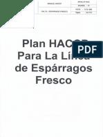 Plan Haccp Para La Linea de Esparragos Fresco