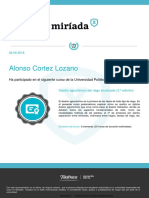 Diploma Riego Localizado Miriada x