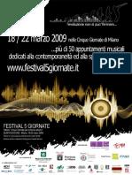 Festival 5 Giornate Programma