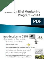 Common Bird Monitoring Program 2014 Final
