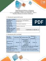 Guía y Rubrica de Evaluación - Fase 3 - Planificar Sistema de Gestión Ambiental