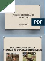 Exploracion de Suelos- Tecnicas
