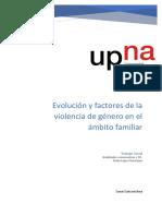 Factores y Evolucion de La Violencia de Genero en El Ambito Familiar.