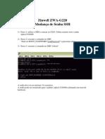 Man ZWA-G220 Mudar Senha SSH