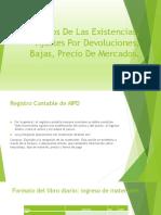 Registros de Las Existencias Ajustes Por Devoluciones (1)