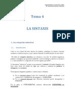 La sintaxis. T4. lengua