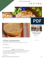 Chilate Salvadoreño - Recetas Salvadoreñas