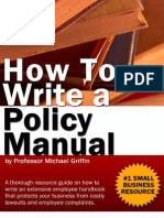 How to Write a Policy Manual