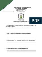 guiones de entrevista directores trabajos del area de practica docente en escuelas normales