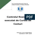 Controlul Financiar Executat de Curtea de Conturi