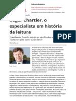 Roger Chartier o Especialista Em Historia Da Leiturapdf