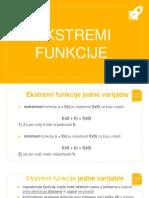 Ekstremi funkcije prezentacija - Besplatno