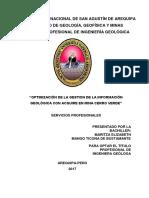 tesis :optimizacion de la gestion de la onformacion geologica