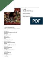 GWAR - Bloody Pit of Horror (Info Sheet)