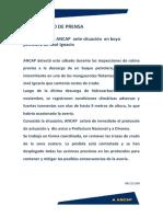 Comunicado Situación en Boya Petrolera de Josè Ignacio