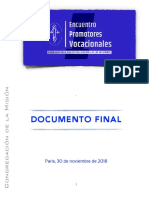 [ESP] Encuentro Promotores Vocacional – DOCUMENTO FINAL