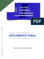 [ESP] Encuentro Promotores Vocacional – DOCUMENTO FINAL
