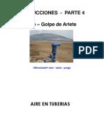 Válvulas de aire y Golpe de Ariete