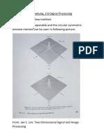Window 2-D signal processing