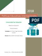 Ensayo- Políticas Educativas Internacionales