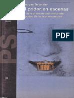 Balandier, G. (1994) El poder en escenas. De la representación del poder al poder de la representación.pdf
