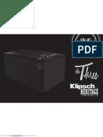 Klipsch The Three Manual