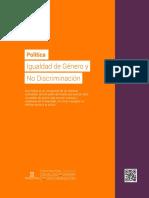 Politica Igualdad de Genero PJUD Chile