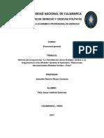 """""""La Constitución de los Estados Unidos y su Organización como Estado"""" durante el Seminario """"Relaciones Internacionales Estados Unidos – Perú"""""""