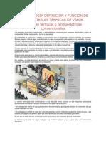 1.1 Centrales Térmicas de Vapor y Generadores de vapor