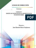 Unidad v - Diseño de Estrategias en Momentos de Incertidumbre, Procesos de Dirección
