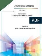 Unidad IV - Evaluacion de Estrategias, Procesos de Dirección